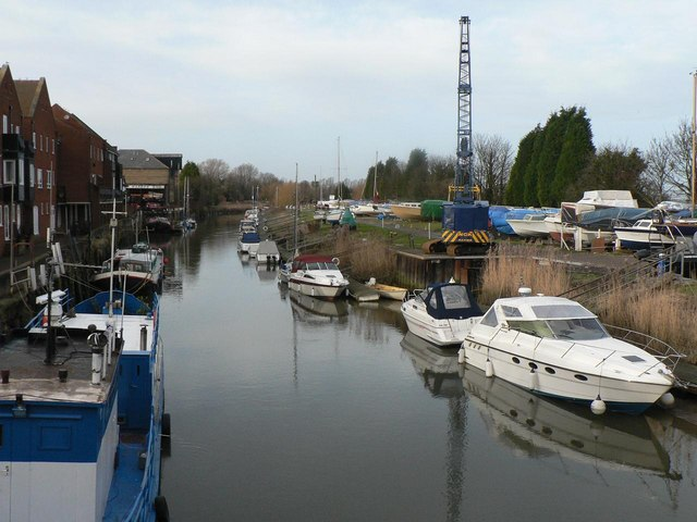 Sandwich: the River Stour from the bridge