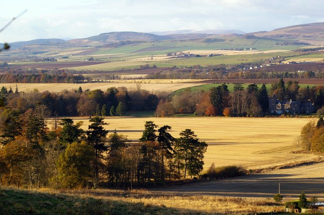 Landscape of Finavon and the further Mountains in Angus