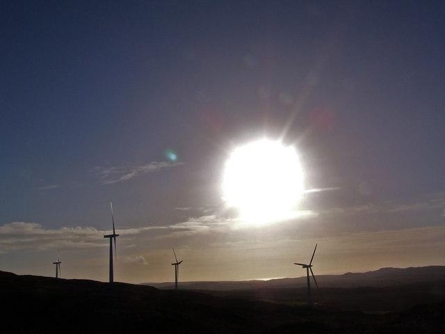 Wind turbines on the western slope of Artfield Fell