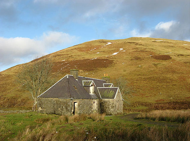 The disused house at Delorainehope