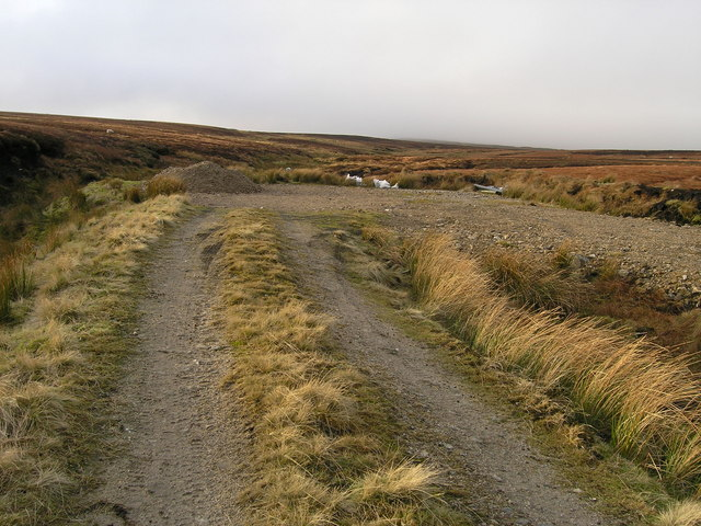 Terminus of the shooting track on Conistone Moor