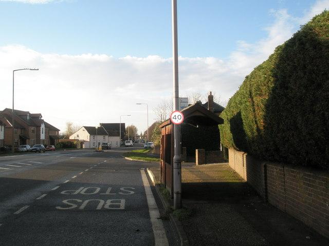 Bus stop near Nutbourne Business Centre