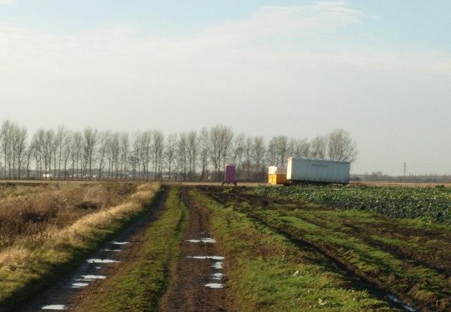 Toilet in field