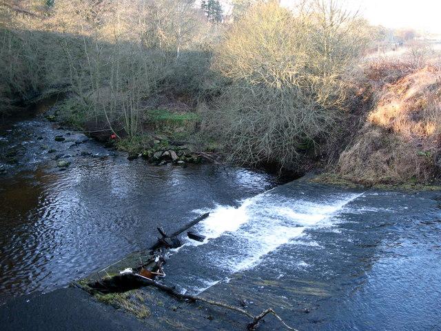The weir below Allenmills Bridge (2)