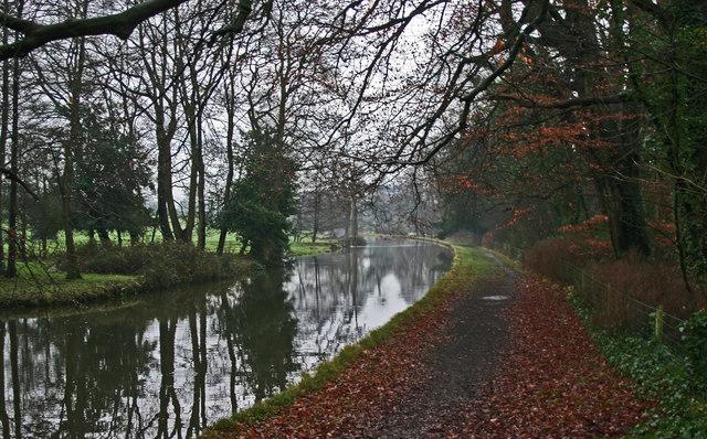 Lancaster Canal At Ellel Grange Bridge