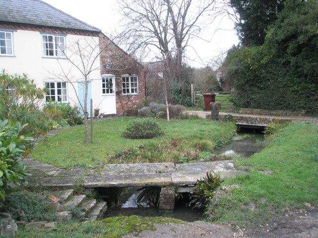 Bridge in cottage garden