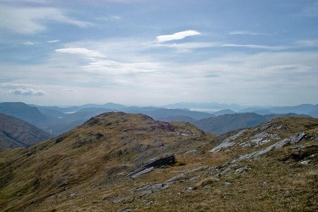 Western flank of Bidein a' Choire Sheasgaich