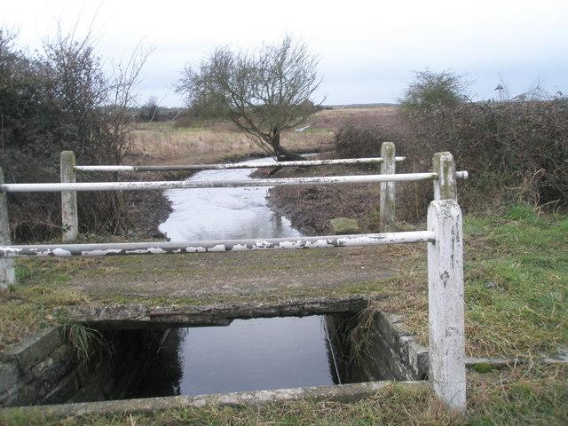 Simple bridge over Ham Brook