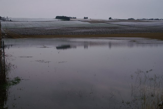Flooded field near Blacklaw