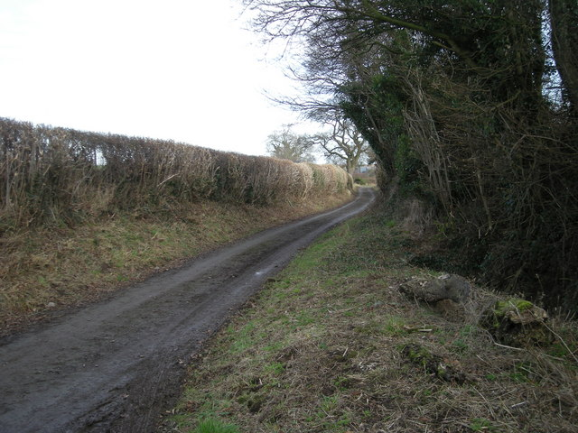 Lane from Longden Manor to Longden.