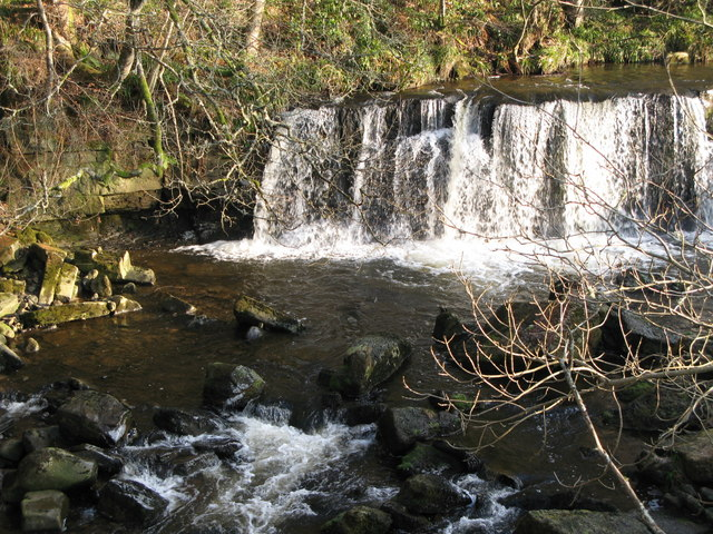 Waterfall on the River East Allen (4)