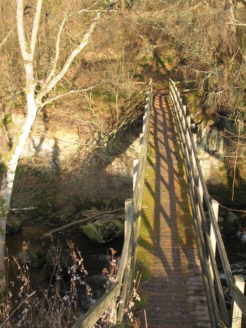 Footbridge over the River East Allen (2)