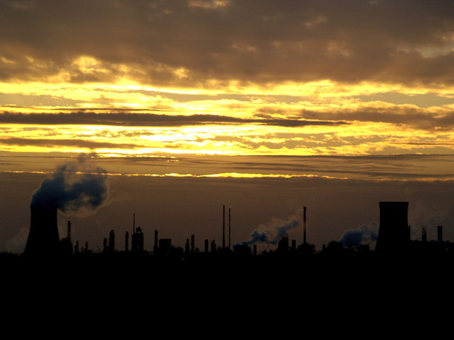 Distant Sunset over Saltend