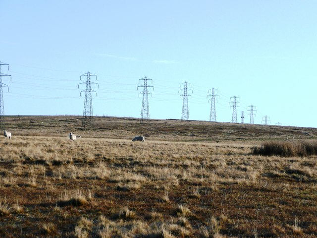 Moorland pylons