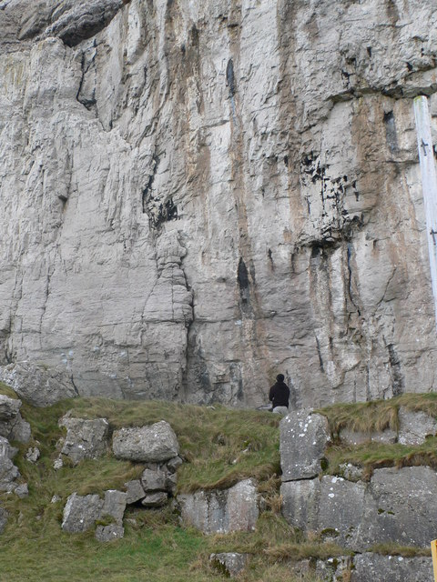 Contemplating the cliff, Great Orme
