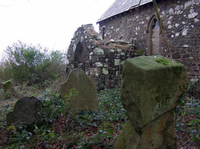 Ruined porch at Morfil/Morvil church