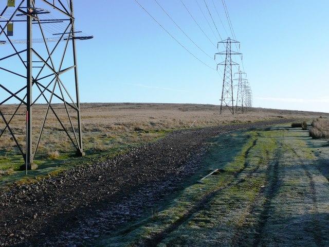 Pylons across the moor