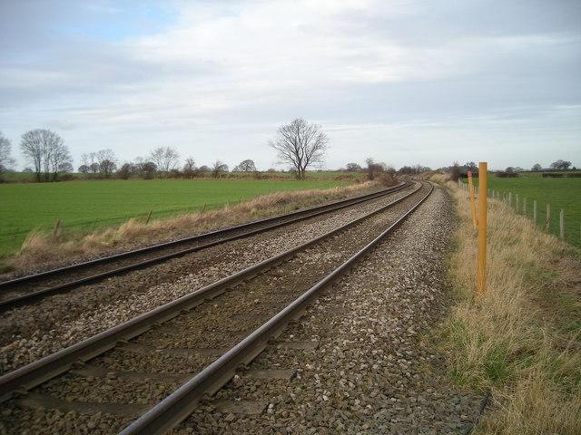 Railway line near Newhouse Farm.