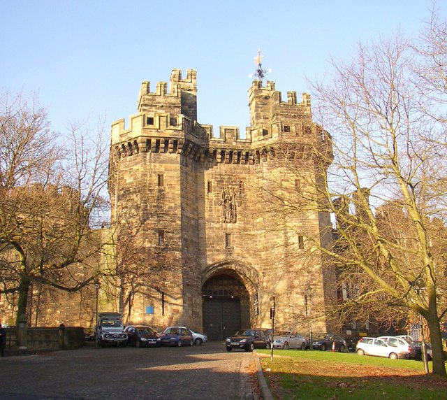 The gateway to Lancaster Castle, Lancaster