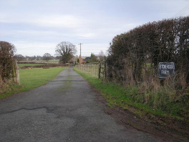 Driveway to Stone House Farm
