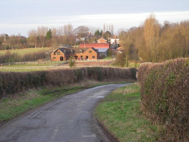 Down the lane to Cottage Farm.