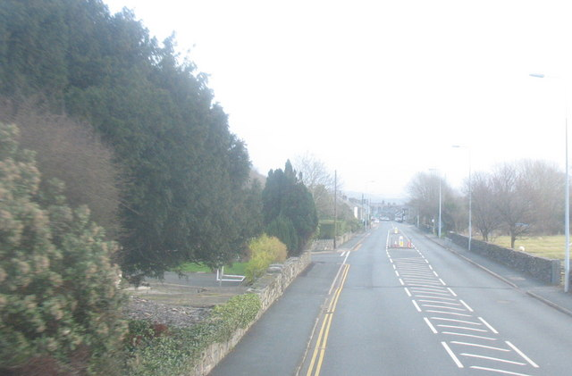 The A487 on the western outskirts of Tremadog
