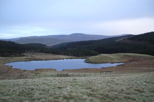 Pool near Esgair Hir Mine.