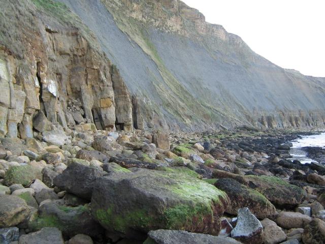 Crumbling coastline