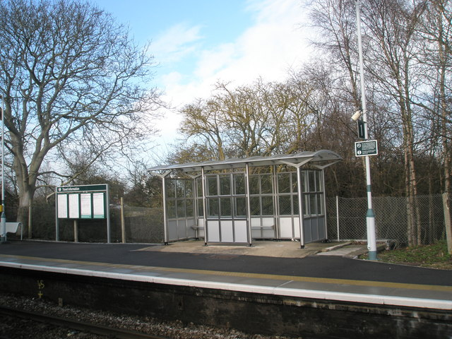 Shelter on the up platform at Bosham Station