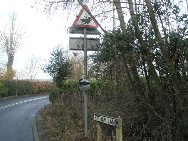 Unusual sign in Ratham Lane