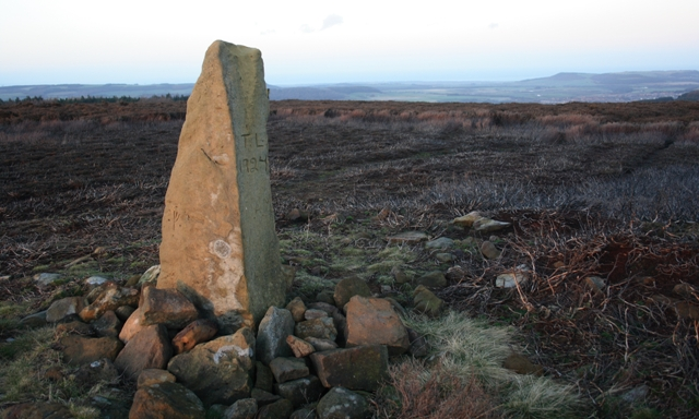 Stone Boundary Stone, Great Ayton Moor