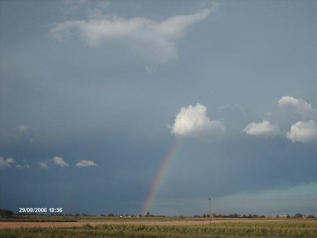 Summer rainbow over Moulton Seas End
