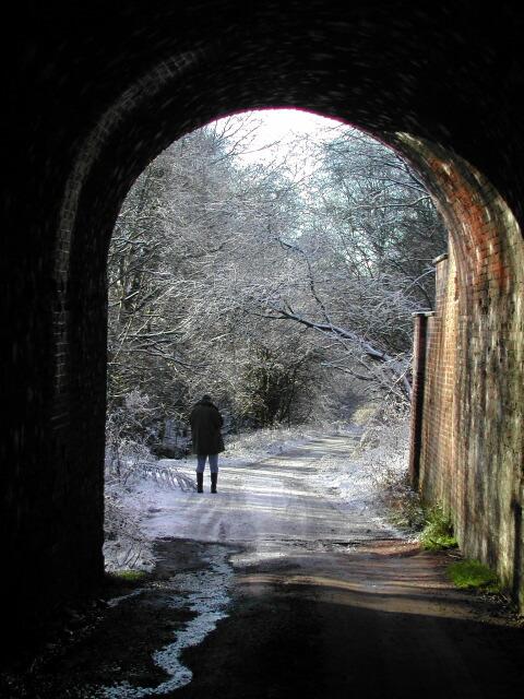 Under the old railway arch, by Caravan Park, Moulton