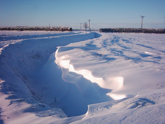 Sots Hole Bank, Holbeach St Matthew - Snow