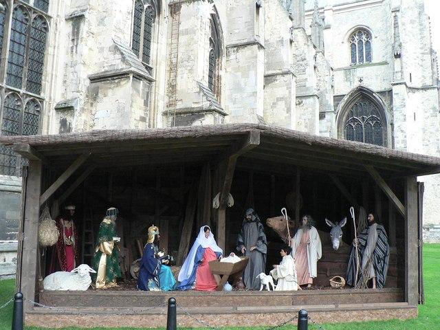 Canterbury: cathedral nativity scene