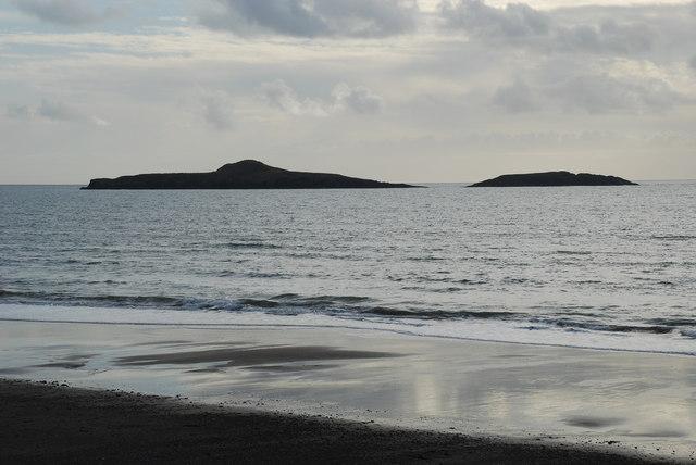 Traeth Aberdaron ac Ynysoedd y Gwylanod - Aberdaron Beach and Ynysoedd y Gwylanod