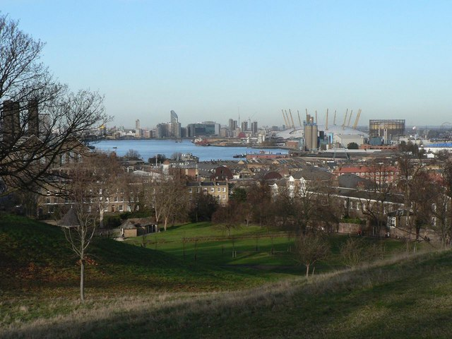 Greenwich Park: river and O2 view