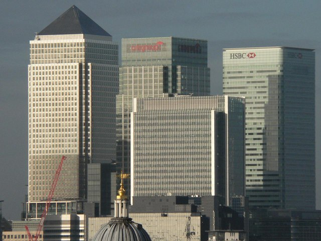 Canary Wharf: view from afar