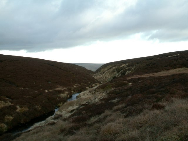 Near Black Clough from Bleaklow Meadows