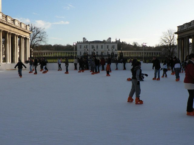 Greenwich: ice rink and Queen's House