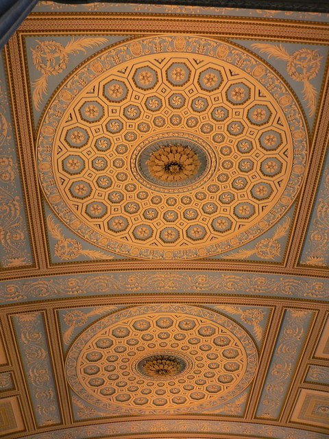 Greenwich: Old Naval College chapel – ceiling