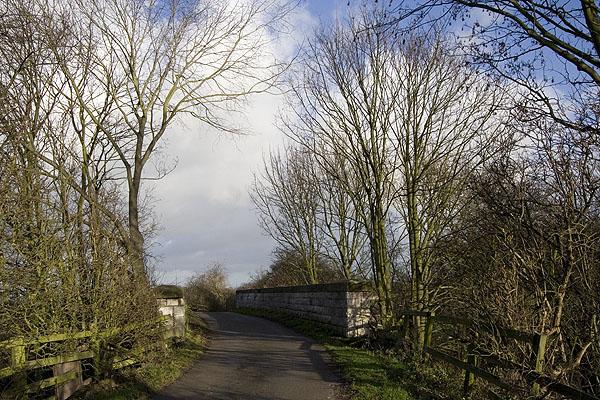 Road bridge over old railway line