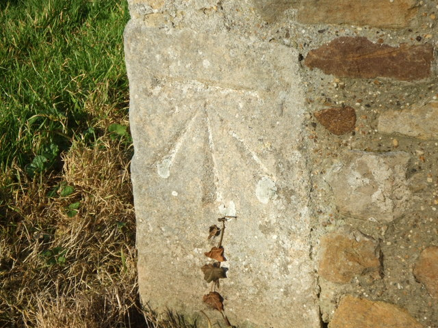 Arrington church: bench mark