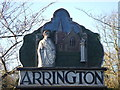 TL3250 : Arrington village sign by Mark Hurn