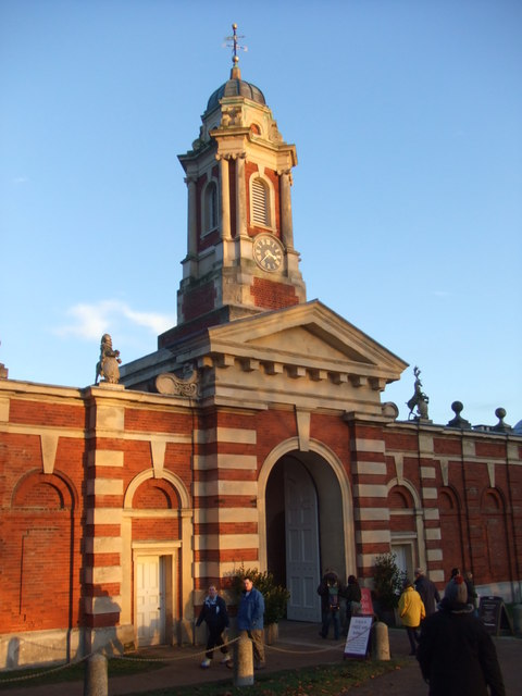 Wimpole Hall stables: the turret and entrance