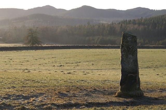Standing stone at Ardmeanach