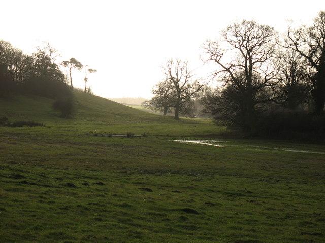 Dry [ish] valley at Sharow.