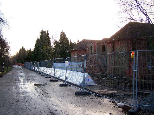 Demolition at Leybourne Grange