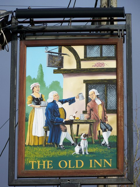 Sign for the Old Inn, Woodfalls
