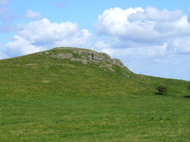 The summit of Lan Fawr